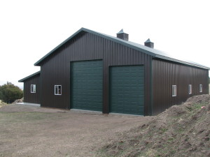 custom built garage