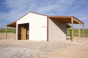custom horse shelter